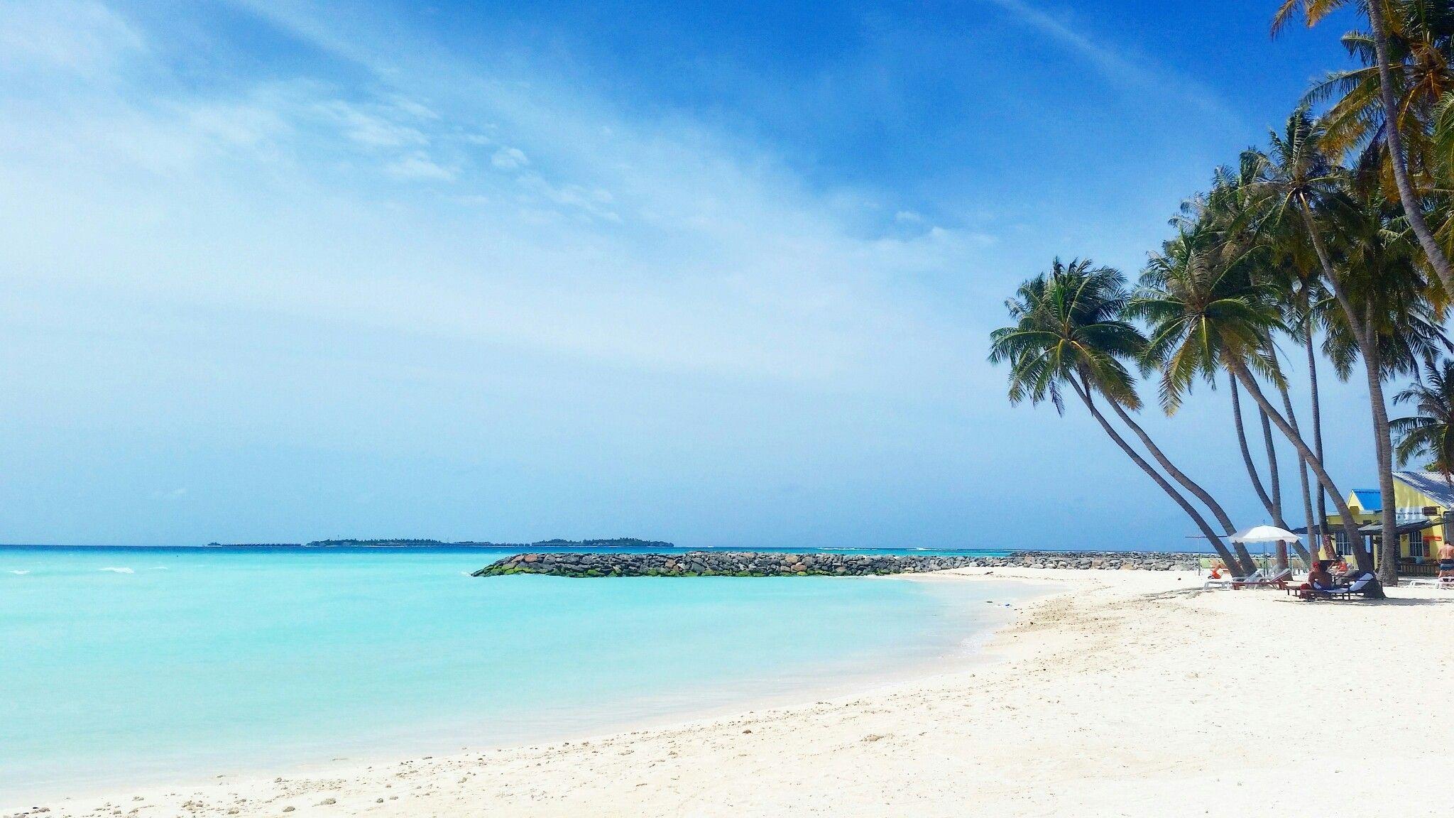 Bikini beach in Maafushi, Maldives