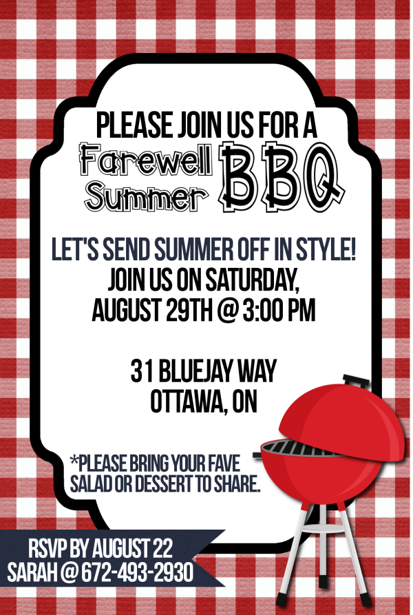 Farewell Summer Free Printable Bbq Invitations Party