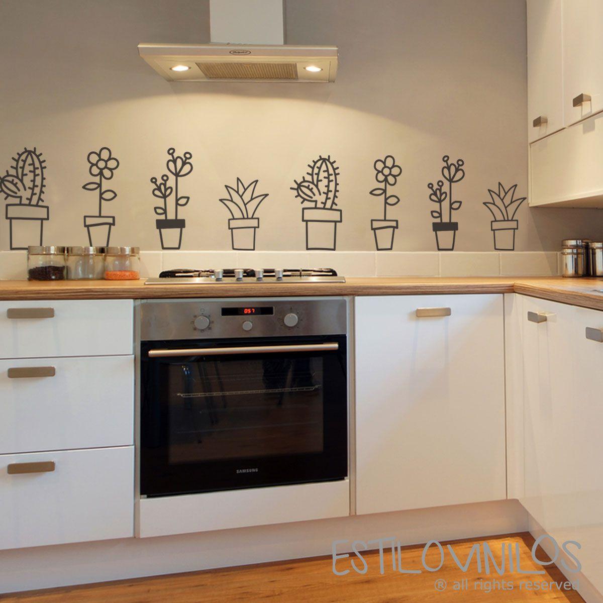 Simpáticas macetas para decorar tu cocina. Recortalas del paño y ...