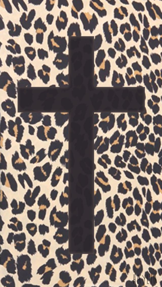 Leopard print cross Phone background patterns, Cheetah