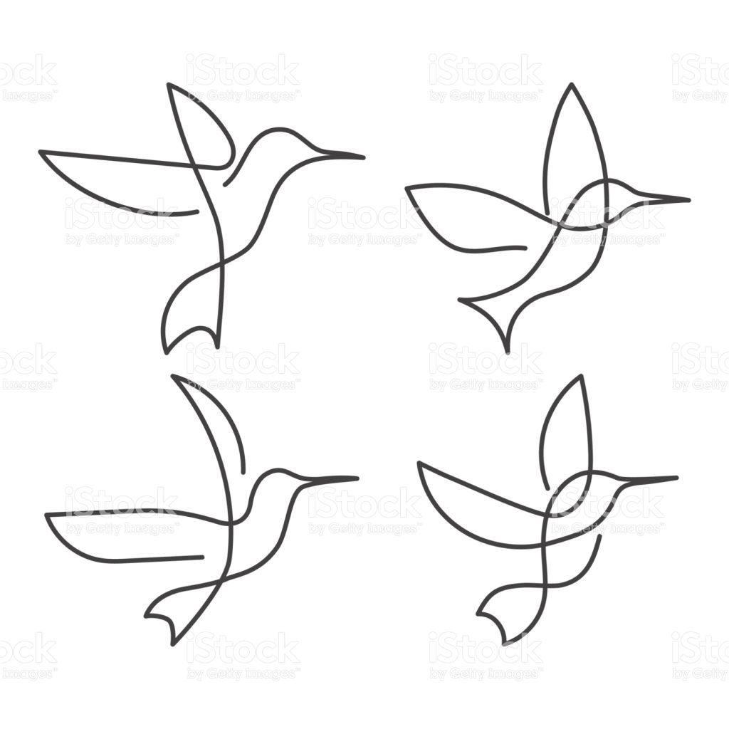 Set Of Continuous Line Birds Vector Illustration White One Line Onelinetattoo Continuous Li Line Drawing Tattoos Continuous Line Tattoo Line Art Drawings