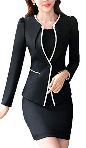3e6cdea8ad9 tailleur femme chic ensemble jupe Veste Costume Femme