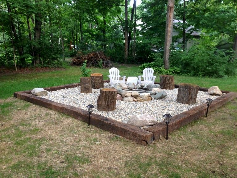34 Simple And Cheap Fire Pit And Backyard Landscaping Ideas