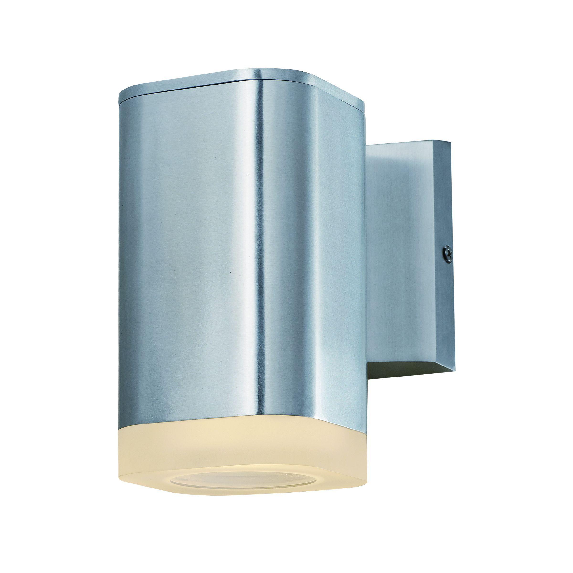 Maxim lightray ledoutdoor wall mount brushed aluminum pcb led