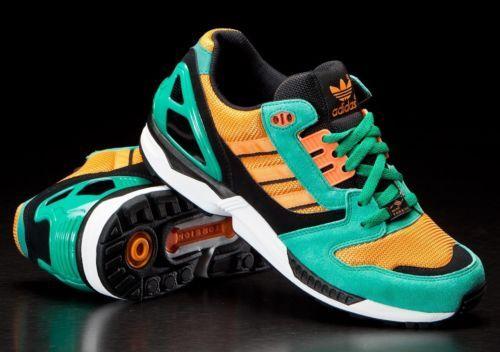 huge selection of 02d3e 7b9b6 Adidas ZX8000 D65459 Fresh Green OG Running Shoes Flux Mita ...