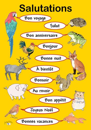 Poster a3 salutations language learning french and teaching poster to teach children different greetings in german m4hsunfo