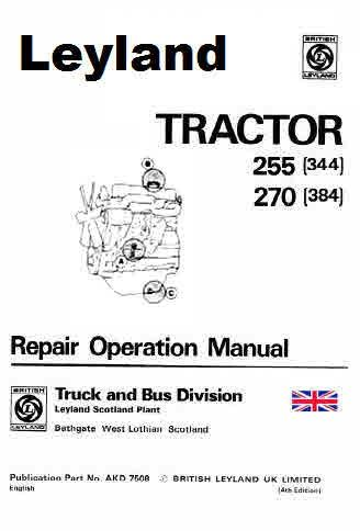 Leyland Model 38 Models 225 227 Turbo Tractors and 98mm