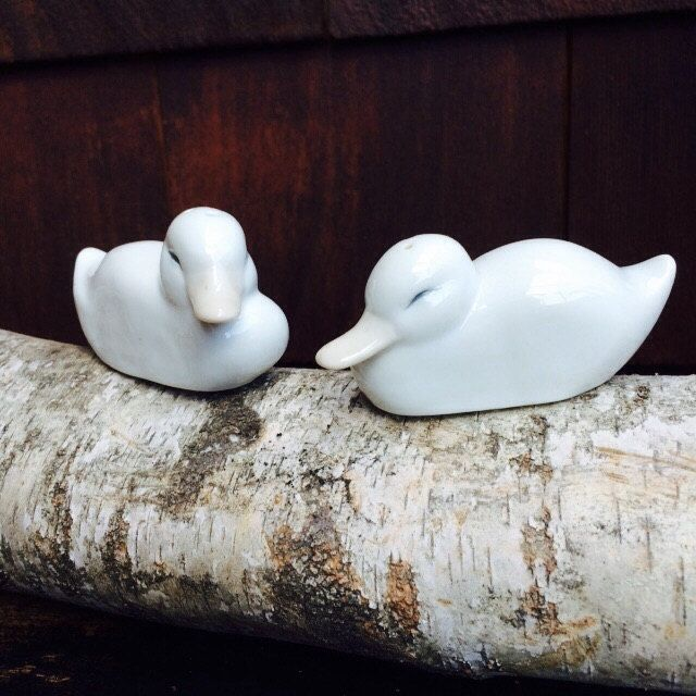 Fitz and Floyd Hand Painted Duck Salt and Pepper Shakers
