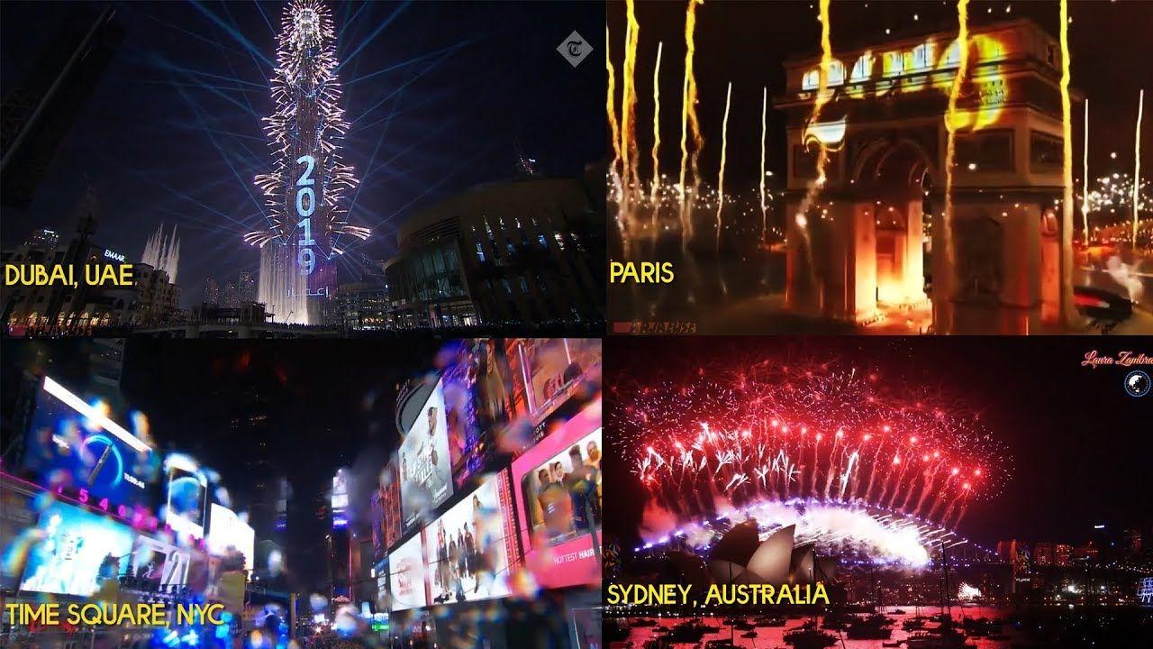 2019 New Year Countdown Around The World Uae Nyc Paris Aus Sg Nz Mnl New Years Countdown Paris Dubai