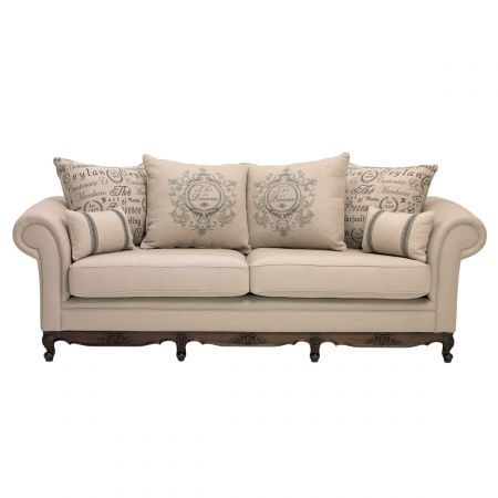Provence 3 Seater Fabric Sofa Domayne Online Store