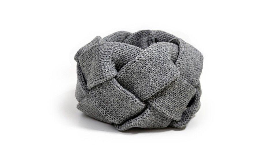 Geflochtener Schal - Dunkelgr von ku me ko | MONOQI