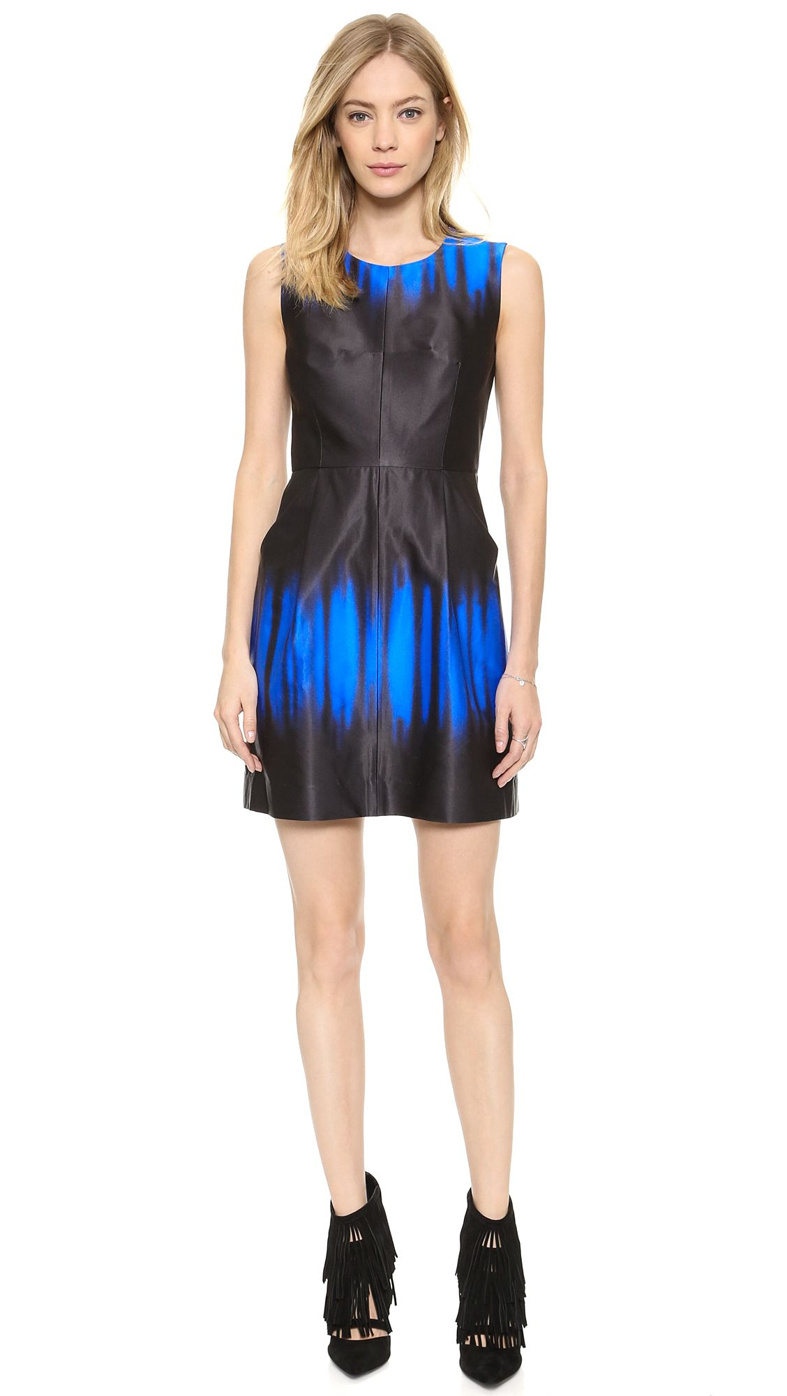 MILLY Coco Ombre Printed Dress via @stylelist | http://aol.it/1tiTnsC