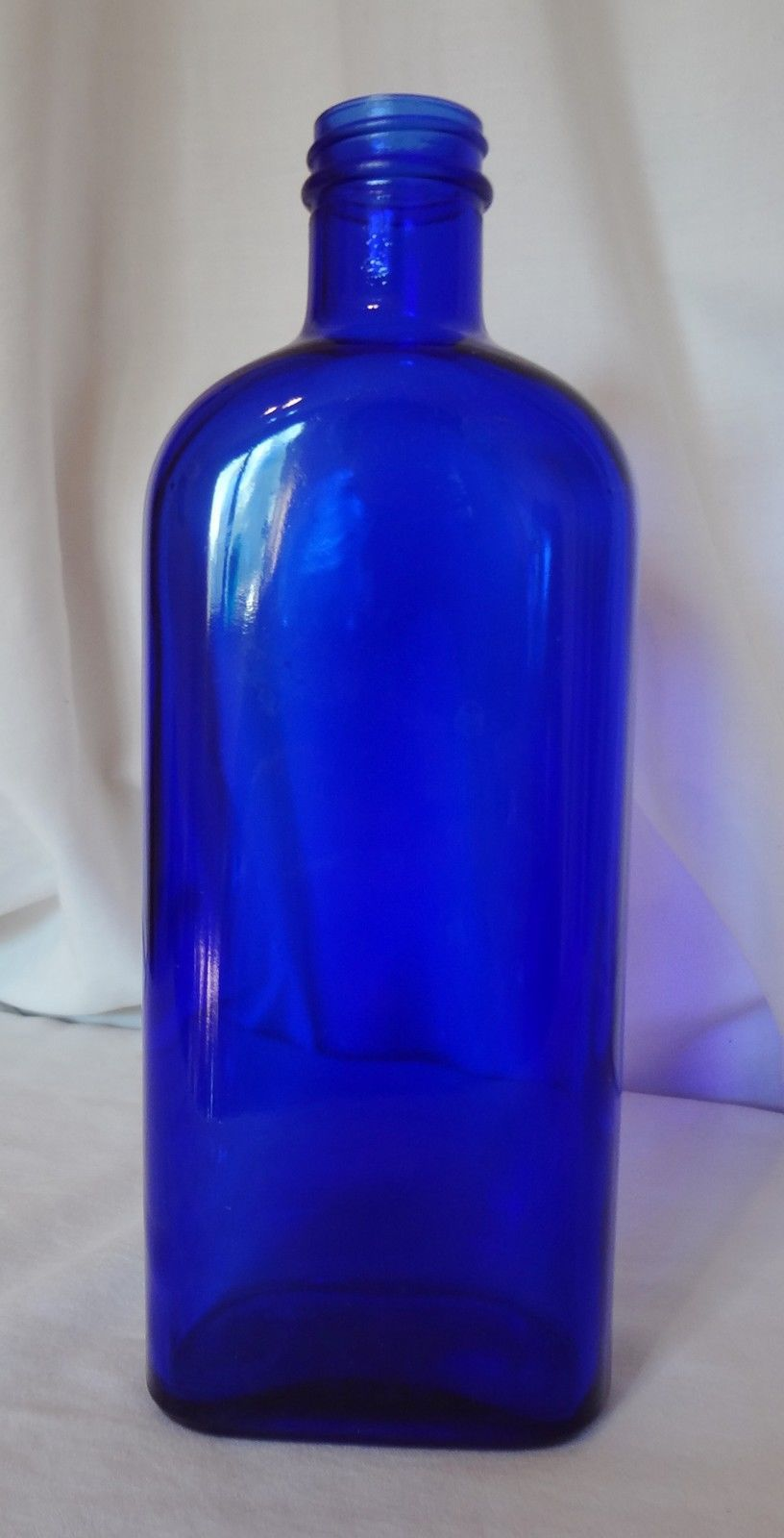 Cobalt Blue Glass Bottle Vintage Medicinal Apothecary 9 Inches