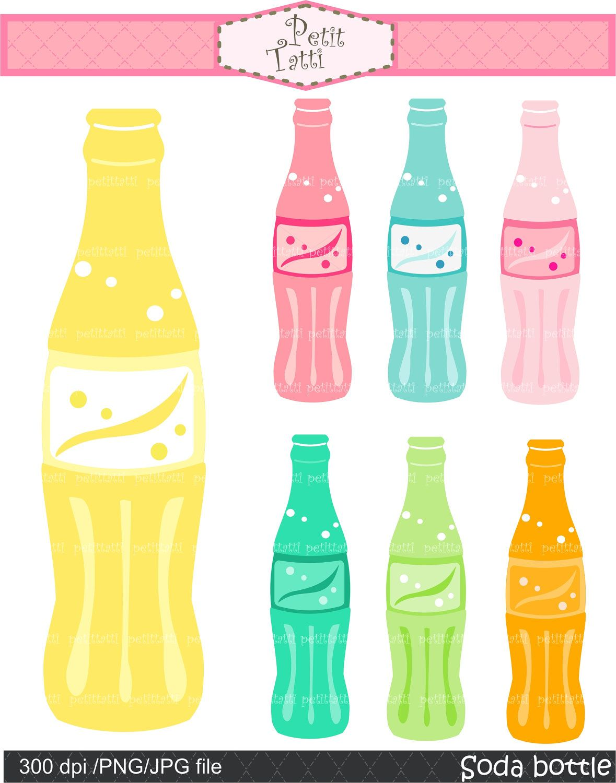 Soda Pop Bottle Clip Art Party Clip Art Digital Clip Art Instant Download Lemon Soda Blue Soda Strawberry Soda Oran Clip Art Digital Clip Art Art Party