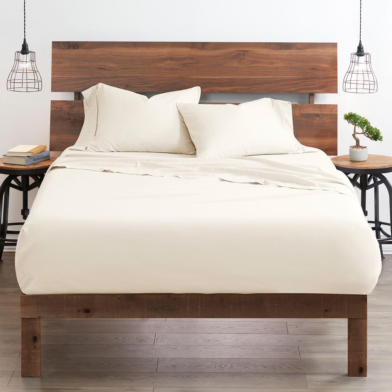 Good Kind Premium Double Brushed 3pc Duvet Cover Set Ivory In 2020 Bed Sheet Sets Duvet Cover Sets Bed Sheets