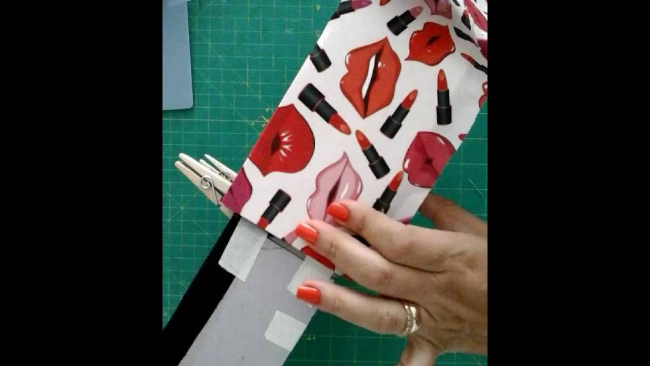 Como fazer uma linda caixa para maquiagem