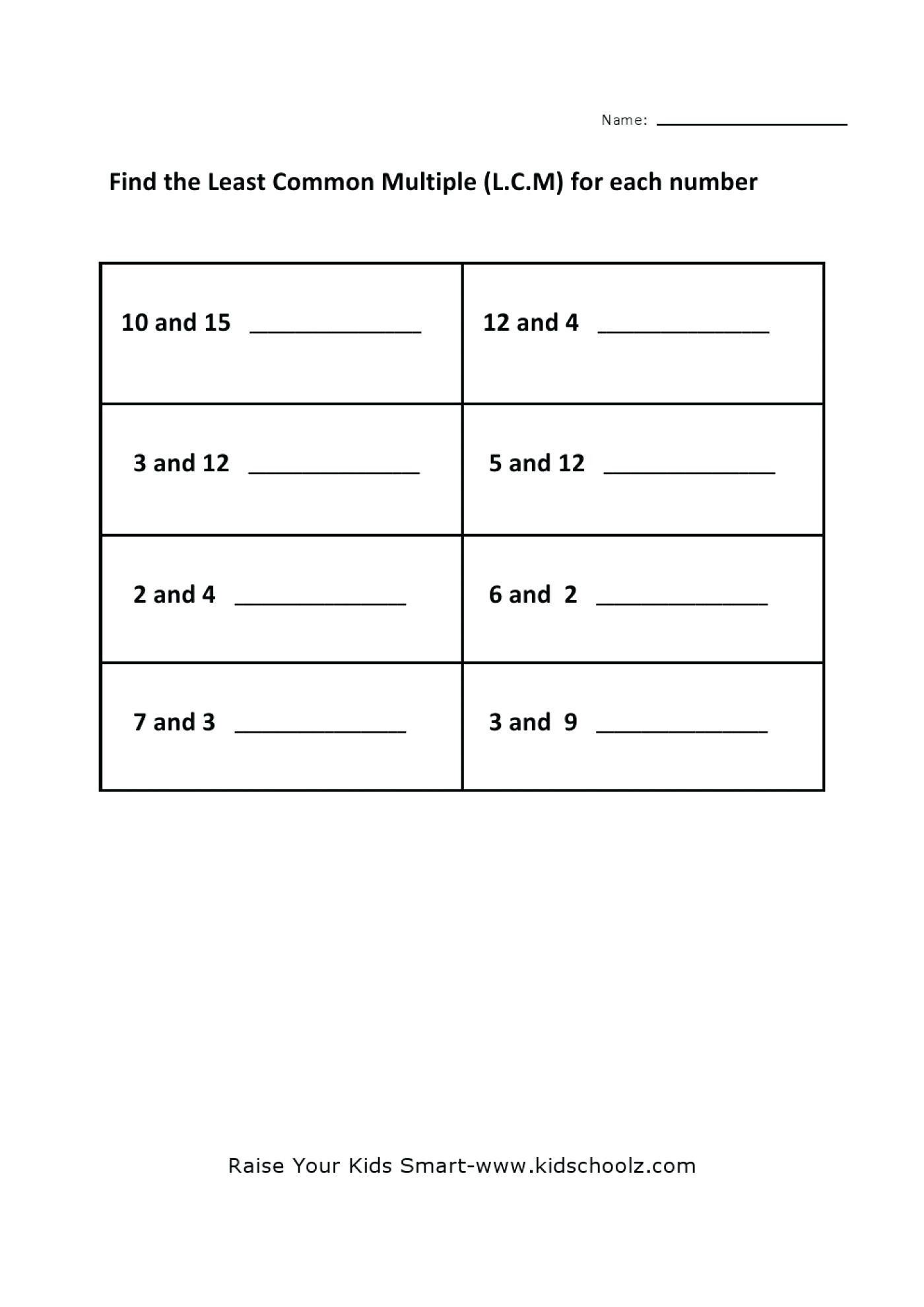 Factoring Numbers Worksheet Math Fireworks Maths