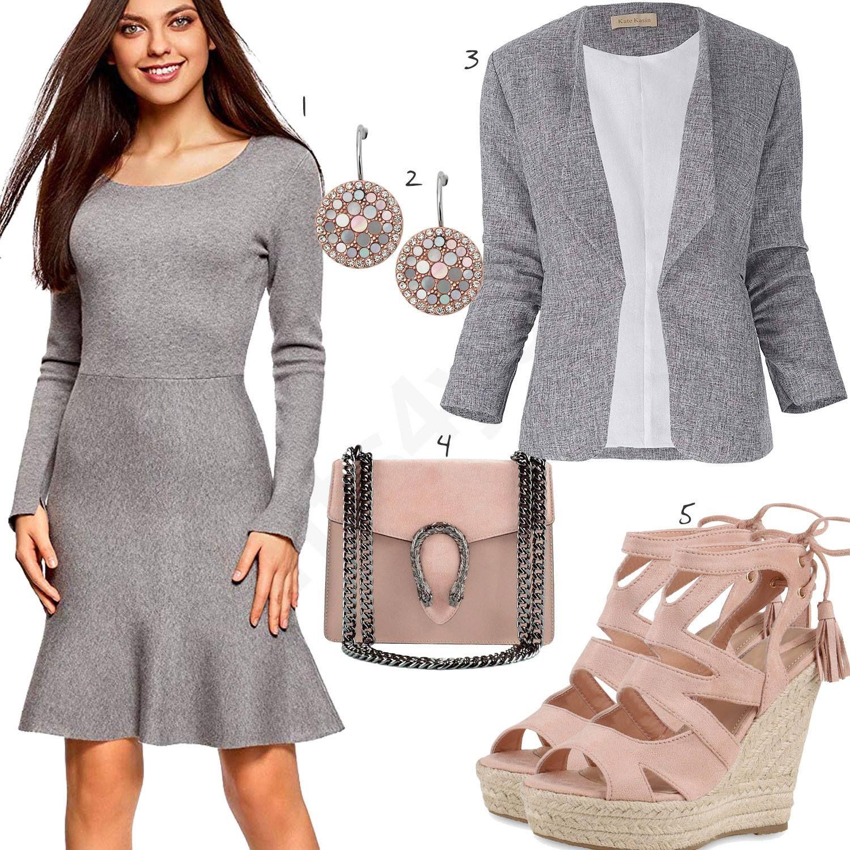 Sommeroutfit mit Kleid, Ohrringen und Pumps | Kleidung