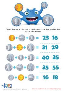 photograph about Printable Coins Pdf known as Printable Economical Game titles and PDF Worksheets: Counting the Cash