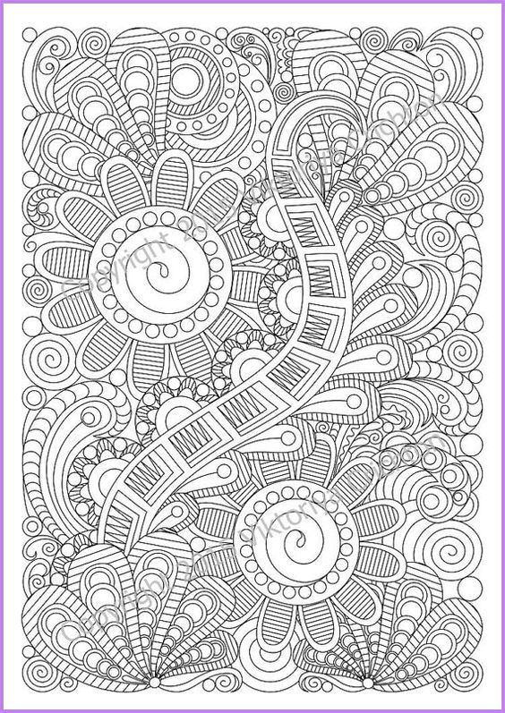 Zentangle Art Coloring Page 5 For Adult Zentangle Inspired