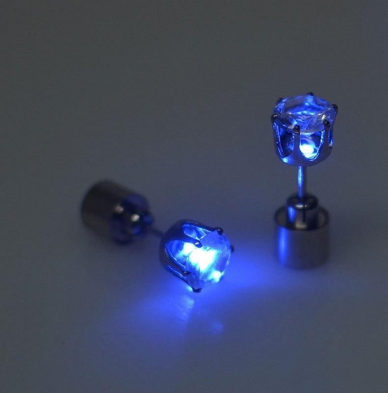 Photo of 1 Pair Unique LED Light Earrings – Blue / 1pair