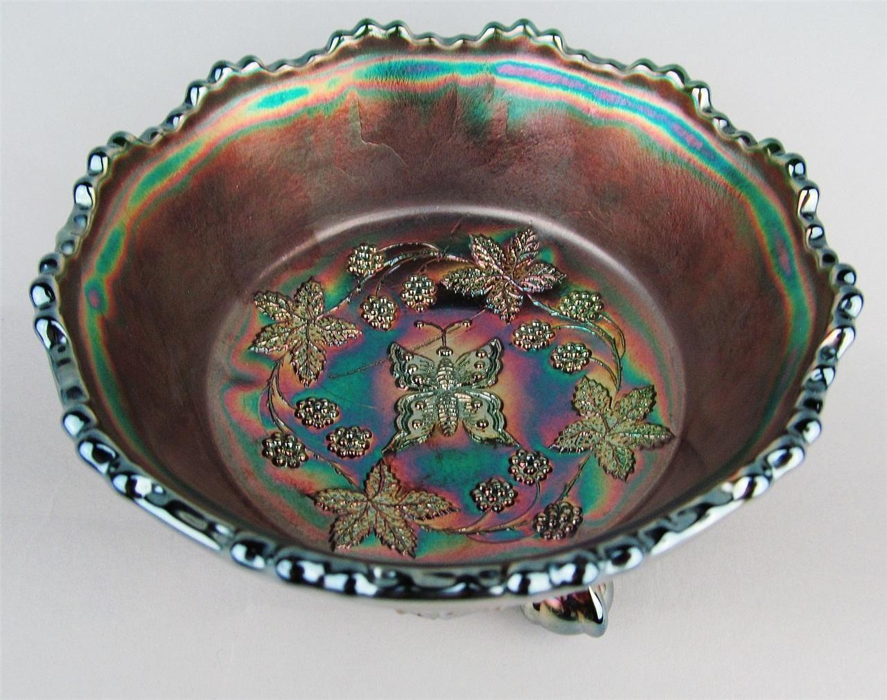 Butterfly berry by fenton green carnival glass 5 berry bowl butterfly berry by fenton green carnival glass 5 berry bowl reviewsmspy