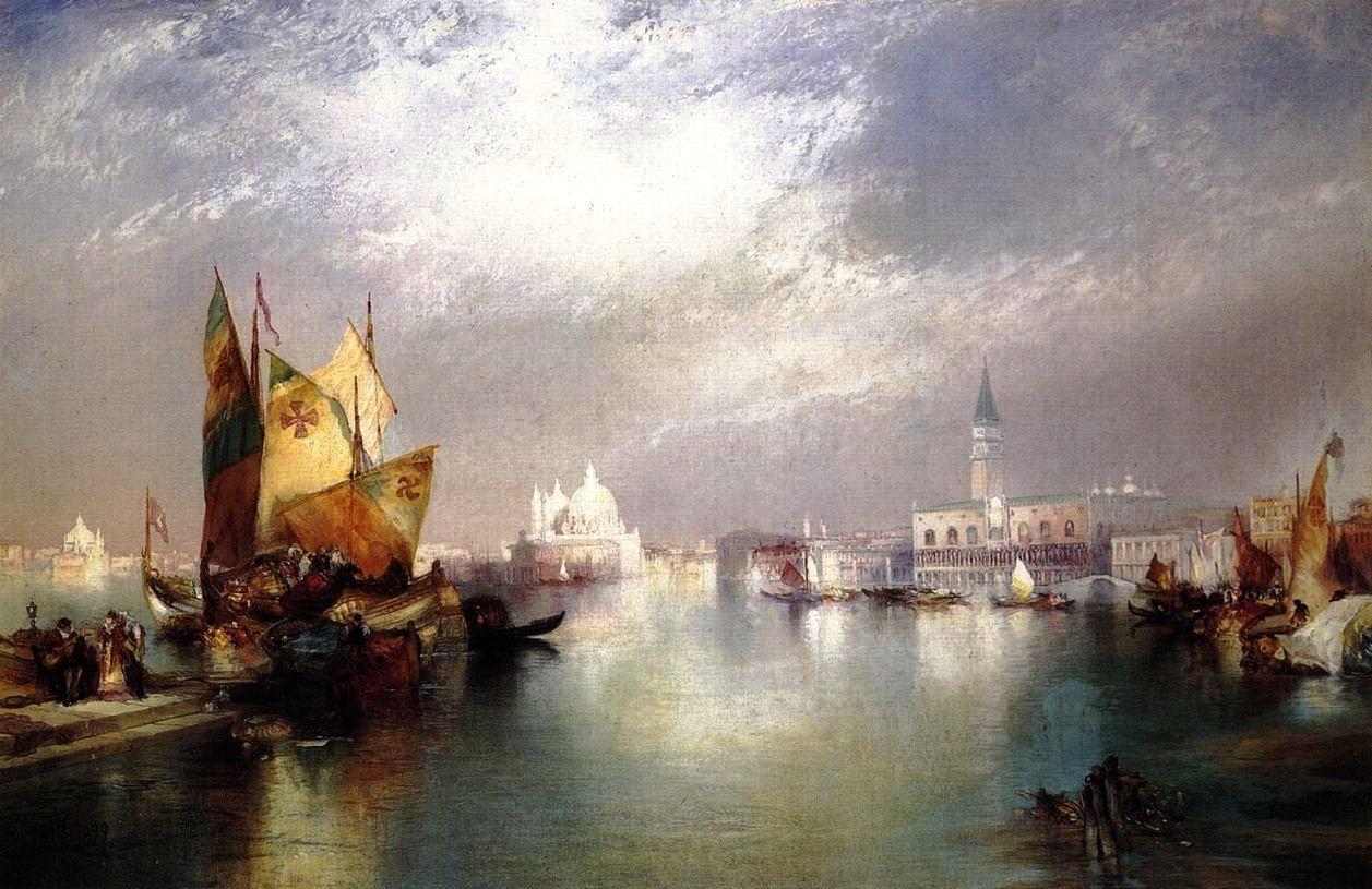 Splendor Of Venice Thomas Moran In Art And Paintings