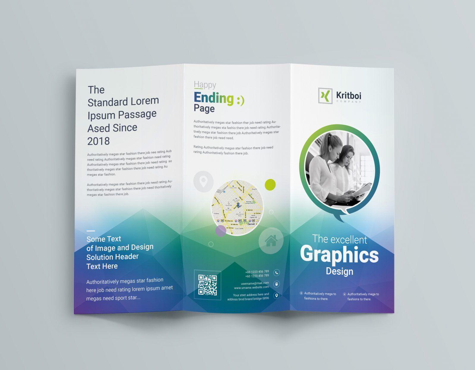professional corporate tri fold brochure template 001205 bi tri