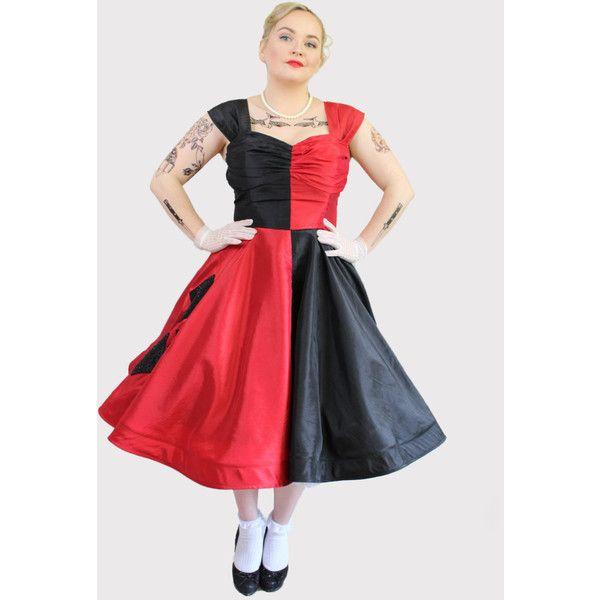 Rockabilly Harley Quinn dress costume (£390) ❤ liked on ...