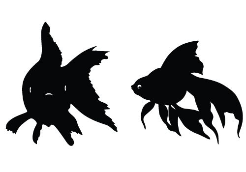 Fish Silhouette Vector Graphics Free Download Fish Silhouette Silhouette Vector Animal Silhouette