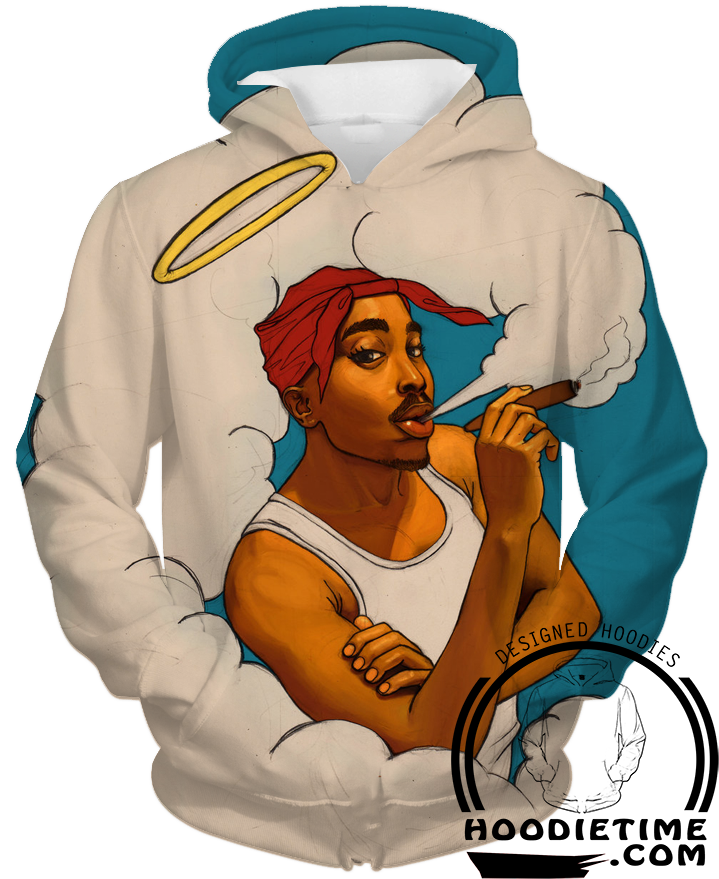 771a1e54021 Tupac Smoking in Heaven Hoodie 2pac - 3D Pullover Clothing - Hip-Hop Hoodies