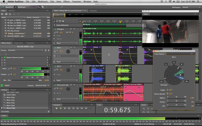 Adobe audition cs6 interface