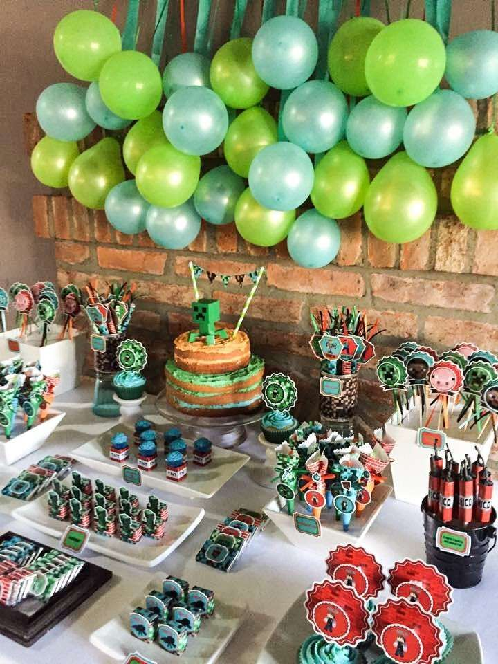Minecraft Birthday Party See More Ideas At CatchMyParty