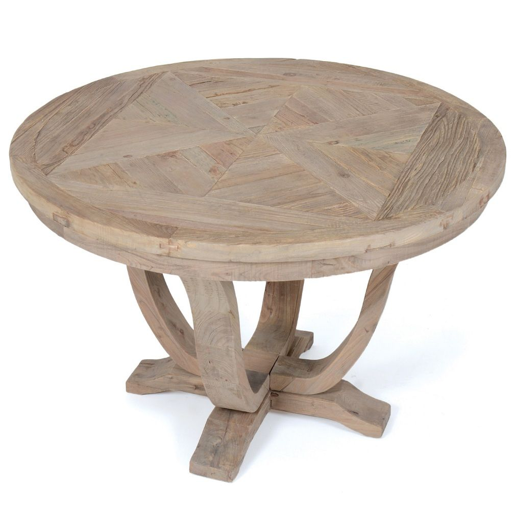 Furnitur Round Reclaimed Wood Dining Table Dining Table Dining Table In Kitchen Wood Dining Table [ 1009 x 1009 Pixel ]