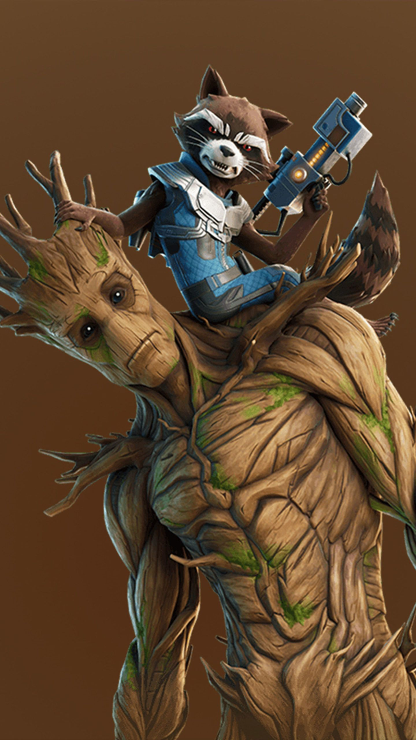 Groot And Rocket Fortnite 4k Ultra Hd Mobile Wallpaper In 2020 Groot Mobile Wallpaper Skins Characters