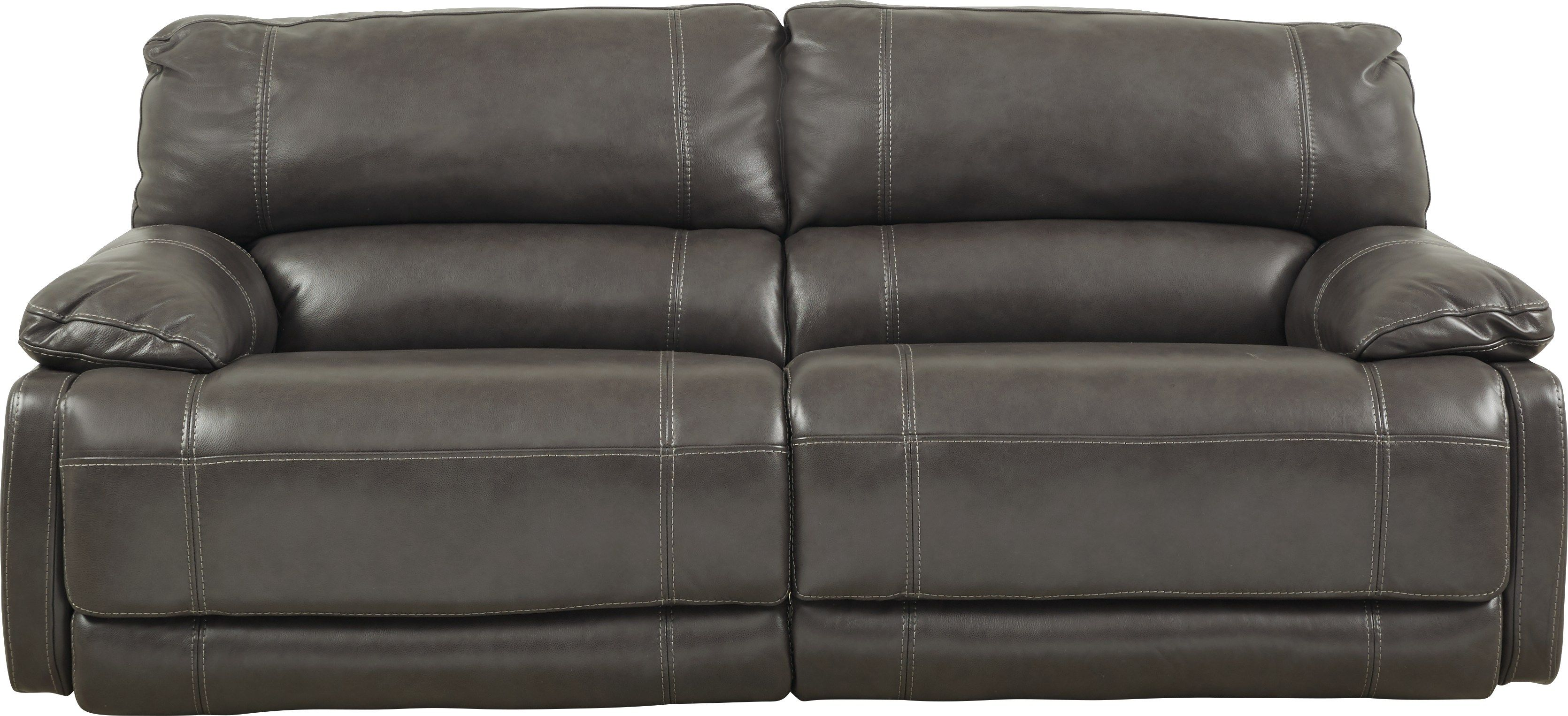Cindy Crawford Home Auburn Hills Leather Steel Power Reclining