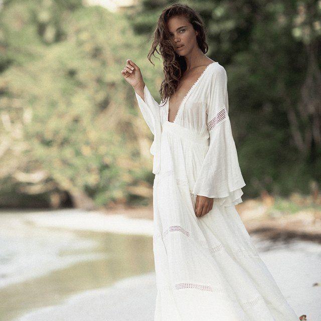 The Jetset Diaries Hammock Maxi Dress in Ivory | Maxi dress