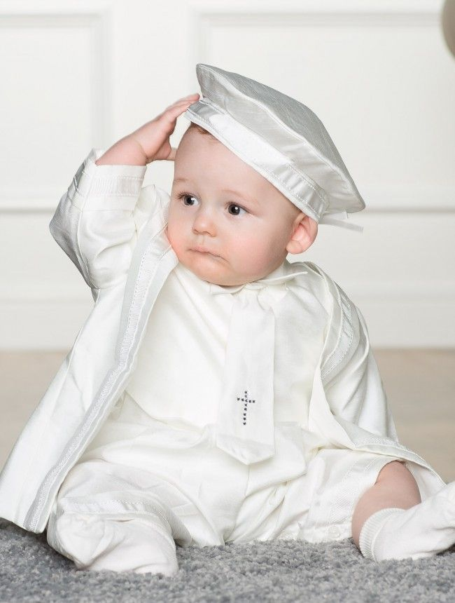 Baby Boys Ivory Christening Romper Joseph Baby Jesus Baptism