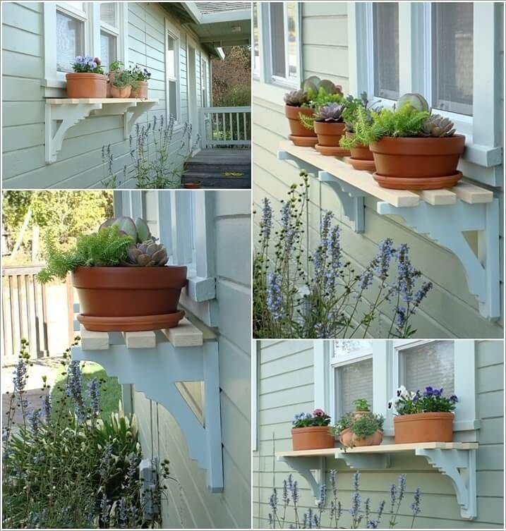 10 Wonderful Diy Outdoor Planter Shelf Ideas Outdoor Planters