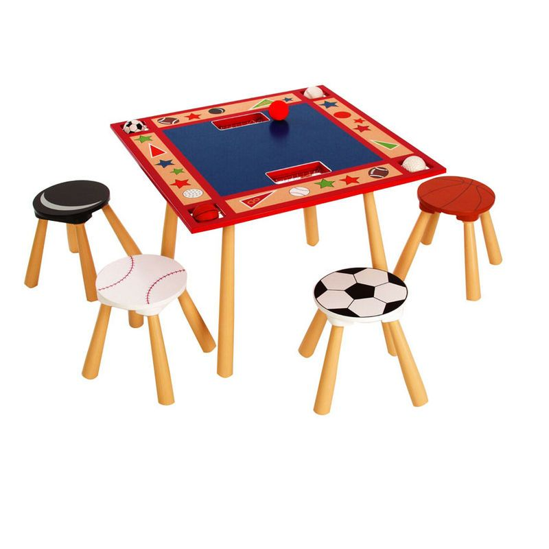 Exceptional All Star Sports Table 4 Stool Set From Levels Of Discovery   Kids Table And  Chair
