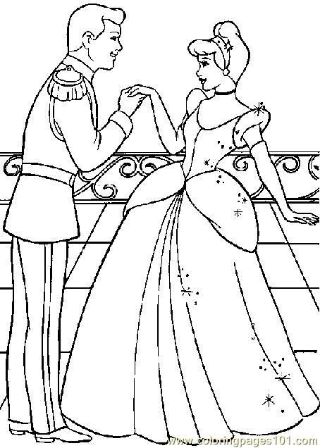 Cinderella Coloring Pages Pinterest