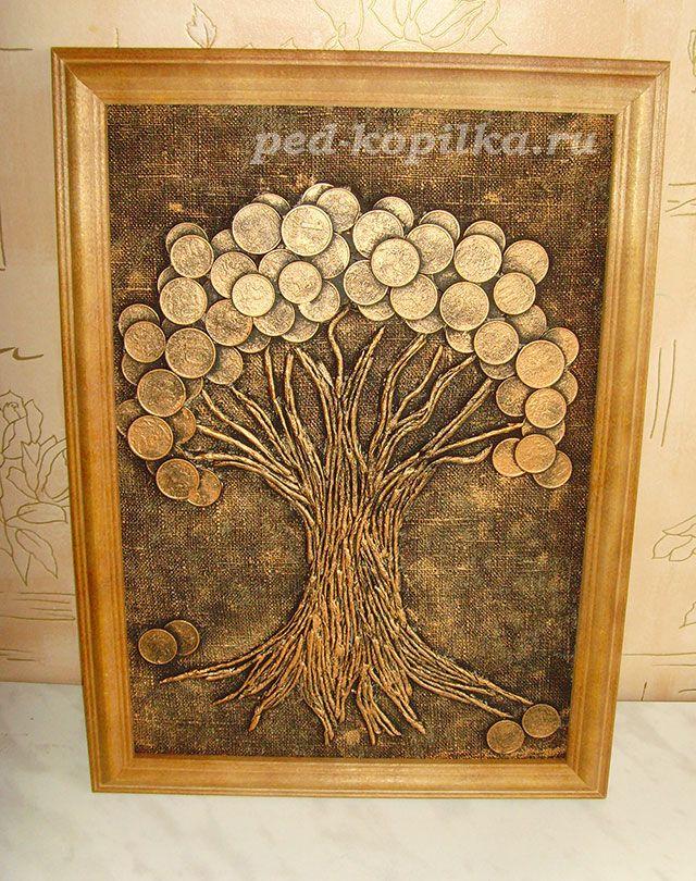 Денежное дерево своими руками из монет видео