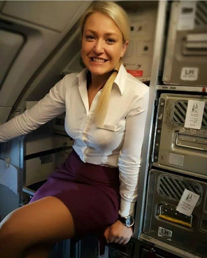 Hot Milf Dressed As A Sexy Air Hostess