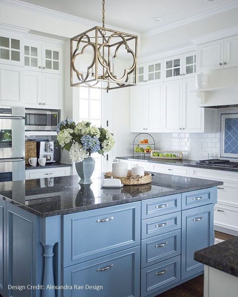 Light. Two toned cabinets. | Maura\'s House | Pinterest | Kitchens ...