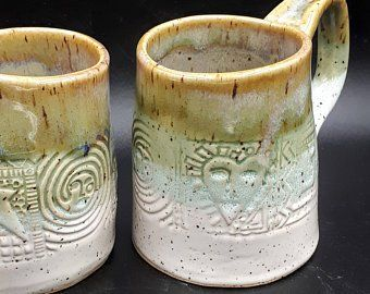 Articles similaires à Cactus cadeau-céramique café Mug-Cactus céramique Mug-à la main sur Etsy #ceramiccafe