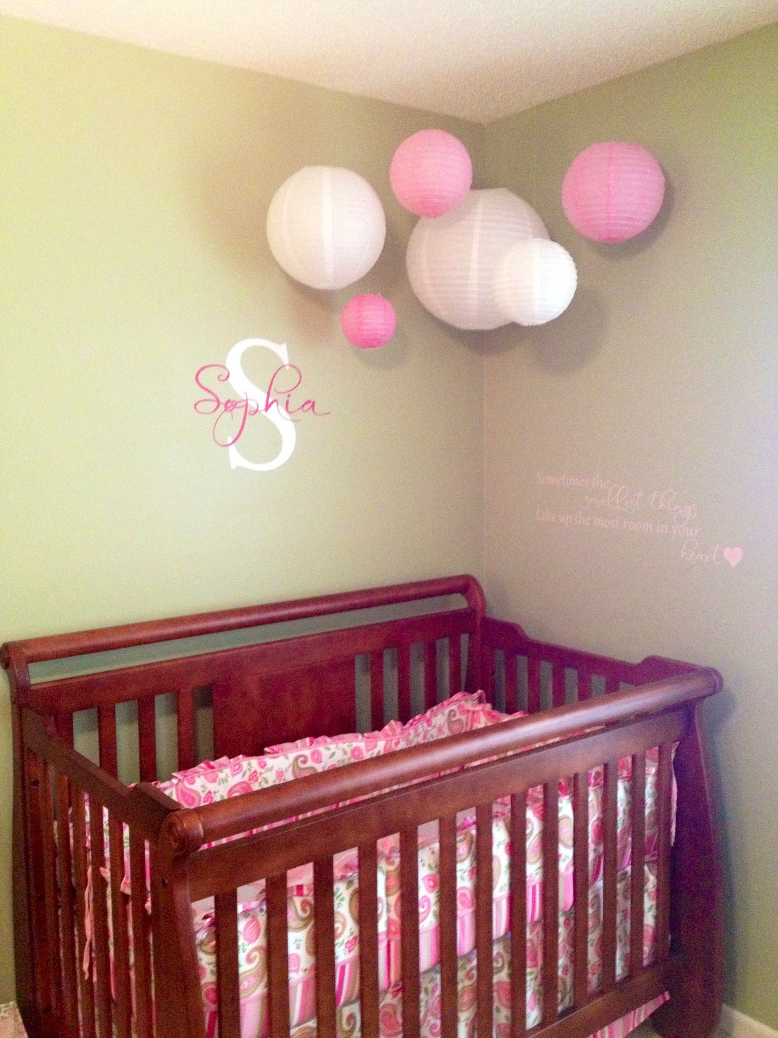 Paper Lanterns Above Crib