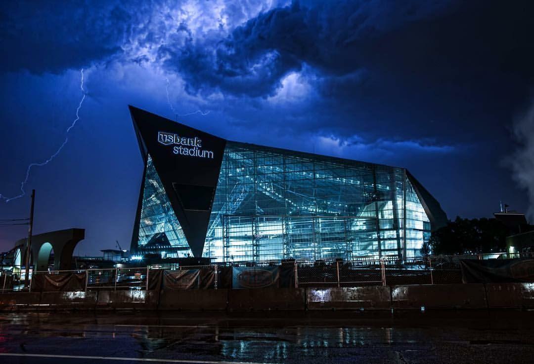The Vikings New Home Us Bank Stadium Xpost From R Evilbuildings R Sports Minnesota Vikings Stadium Vikings Stadium Minnesota Vikings Football