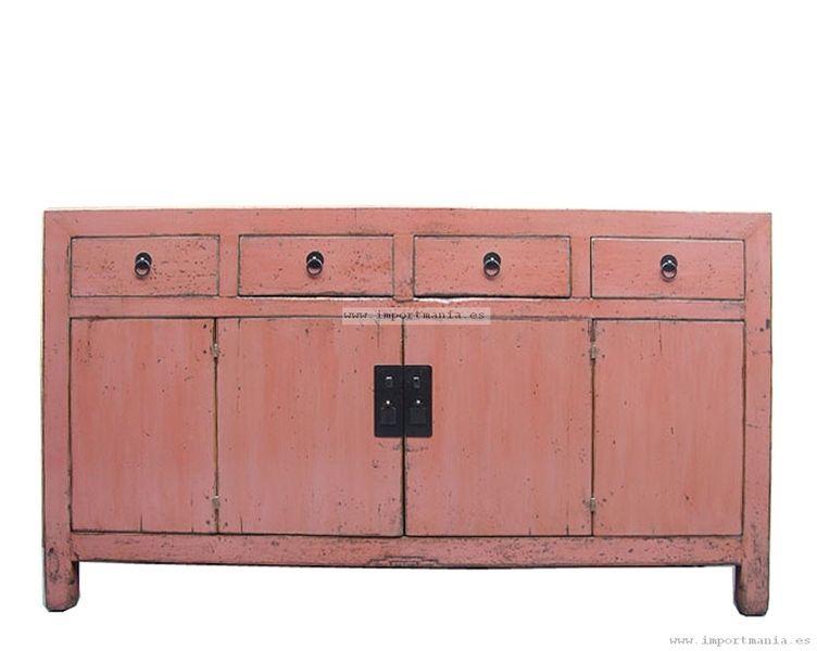 Aparador chino rosa envejecido Muebles chinos | muebles