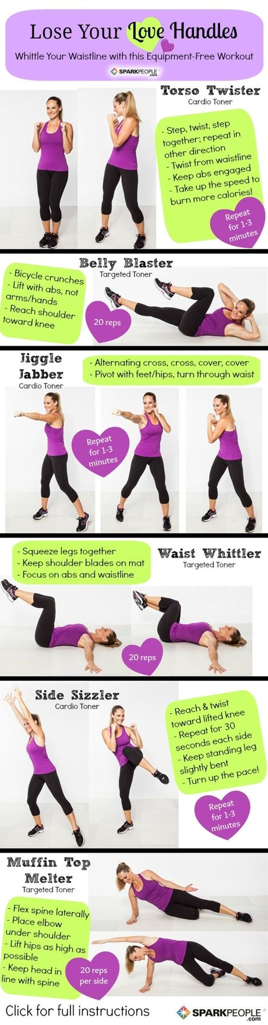 The uLose Your Love Handlesu Workout  Pinterest pin Workout and