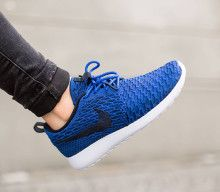 Explore Nike Shoes Outlet, Nike Free Shoes, and more! Nike Roshe One Flyknit  WMNS-Game Royal-Dark Obsidian-Black